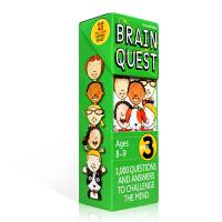 英文原版绘本书Brain Quest Grade 3 美国小学生全科练习 大脑任务2年级 8-9岁 亲子互动学习训练英