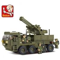 快乐小鲁班兼容乐高积木军事坦克7飞机模型810男孩子6-12岁儿童拼装玩具儿童节礼物