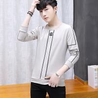 男士卫衣韩版潮流男士长袖T恤青年修身帅气休闲薄运动服