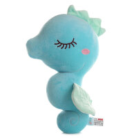 海洋馆动物海马公仔Q萌小海马毛绒玩具小马挂件泡沫粒子玩偶