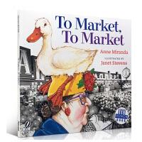 英文原版绘本To Market, To Market 去市场 儿童启蒙故事书绘本廖彩杏韵文吴敏兰张湘君英语启蒙入门图画