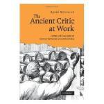 【预订】The Ancient Critic at Work: Terms and Concepts of