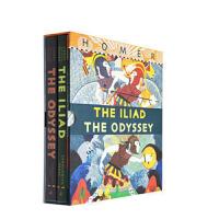 英文原版绘本 The Iliad/The Odyssey 荷马史诗 伊利亚特+奥德赛2本 精装礼盒收藏版 小学生课后阅