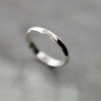 新品S925纯银镶小钻戒指女简约光面指环饰品时尚气质礼物