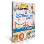 英文原版 The Ultimate Construction Site Book 建筑工程师 精装绘本抽拉翻翻书 施工
