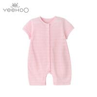【直降】英氏婴儿连体衣 女宝宝纯棉连身衣夏季婴儿衣服短袖哈衣 174235