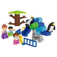 积木大颗粒拼装拼插动物园儿童玩具1-2-3周岁