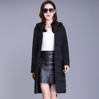 女中长款冬季韩版棉袄时尚显瘦轻薄羽绒棉衣外套潮