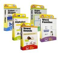 (100减20)美国加州 Evan Moor系列 Learning Line Flashcards 3盒学习启蒙字卡英