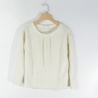 CA0787精品秋冬新款圆领套头宽松显瘦后开叉好搭配女纯色毛衣