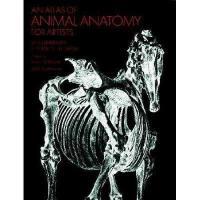 【现货】英文原版 An Atlas of Animal Anatomy for Artists 动物解剖图鉴 插画家、雕塑家参考图鉴 大开本1956年首版 旧式印刷 原汁原味 平装