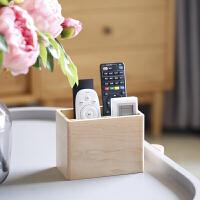 【遥控器收纳盒】创意北欧简约实木质桌面整理