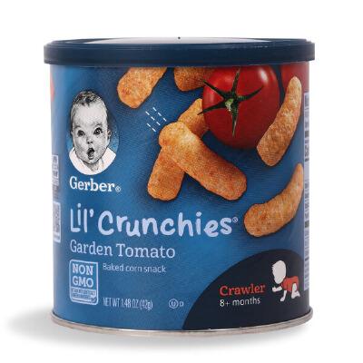 美国GERBER 嘉宝美味番茄玉米手指泡芙条 宝宝辅食 婴幼儿零食品