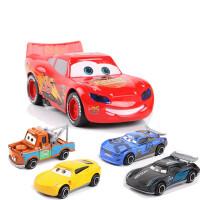 赛车汽车总动员闪电麦昆玩具车模型合金大号回力小汽车黑风暴酷姐