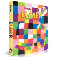 【全店300减100】Elmer 花格子大象艾玛 吴敏兰绘本123第40本 英文原版入门 纸板书