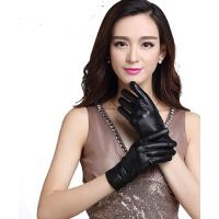 真皮手套保暖加绒加厚分指手套 韩版修手