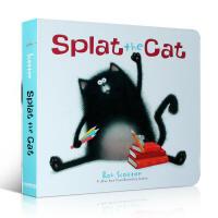 英文原版 啪嗒猫 Splat the Cat纸板书 经典趣味绘本 吴敏兰推荐123绘本 Rob Scotton2-6岁