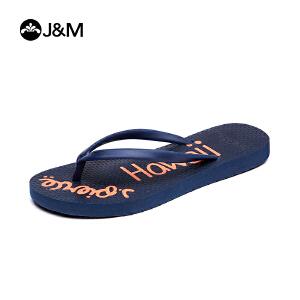 JM快乐玛丽夏季设计师个性时尚平底人字拖儿童拖鞋沙滩鞋T1019C