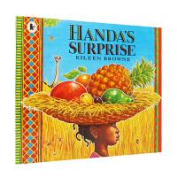 【全店300减100】支持毛毛虫点读 英文原版进口汉娜的惊喜 Handa's Surprise: Read and Sh