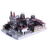 3D立体拼图金属拼装模型建筑布尔戈斯大教堂手工DIY玩具