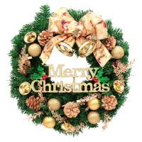 圣诞节装饰品挂件门挂30/45/60cm挂饰门饰场景布置用品圣诞树花环