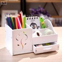 笔筒创意时尚韩国小清新 可爱学生简约桌面摆件办公收纳盒多功能