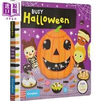 【中商原版】繁忙的万圣节 英文原版 Busy Halloween 机关操作书