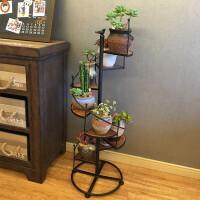 花架铁艺实木多层客厅室内落地式花架子木质多肉花盆架植物架