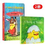【中商原版】I Am a Bunny我是一只兔子 A Book of Babies宝宝的书 英文原版 0-3岁儿童英文