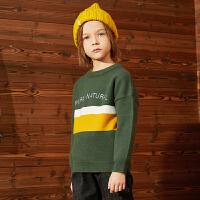 【2件3折:75】巴拉巴拉旗下巴帝巴帝男童毛衣19年秋冬新中大童儿童撞色套头针织毛衫