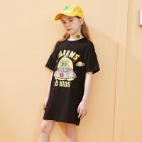 【2件3折:62】巴拉巴拉旗下中大童儿童连衣裙2020夏装薄款中长款T恤卡通女童裙