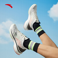 【满99-20】安踏运动鞋男鞋网面跑步鞋春季2021新款夏季男士休闲鞋112125586