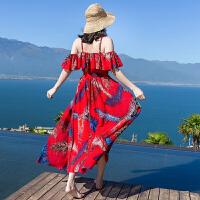 维绯 沙滩裙女夏 新款 海边度假仙长裙波西米亚显瘦连衣裙子