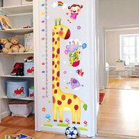 儿童房间壁纸自粘卡通装饰墙纸宝宝量身高贴纸可移除卧室贴画墙贴