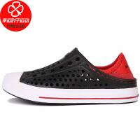 Skechers/斯凯奇男女童鞋新款运动鞋休闲沙滩鞋凉鞋洞洞鞋91995L-BKRD