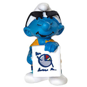 [当当自营]Schleich 思乐 蓝精灵系列 推销员蓝精灵系列 仿真塑胶模型收藏玩具动漫周边 S20773