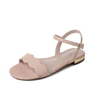 Tata/他她2017年夏季羊皮时尚简约女皮凉鞋2H139BL7