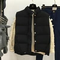 ZAH正品棉衣马甲女士外套2017秋冬新款大码女装加厚面包服背心短款立领无袖