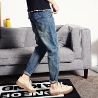 小码男装修身小版小脚牛仔裤矮小个子26号27码帅休闲裤