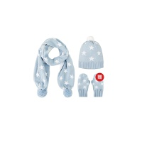【网易严选清仓秒杀冬季保暖】儿童配搭套装(帽子+围巾+手套)