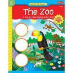 【预订】The Zoo: A Step-By-Step Drawing & Story Book [With