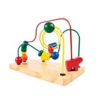 费雪 Fisher-Price 儿童玩具 木质串珠 中号彩色绕珠架 YT52