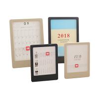 2018记事年历本创意竖款相框台历架文具小日历