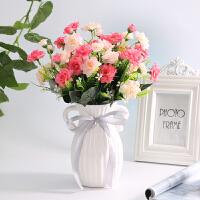 仿真花套装带花瓶家居室内客厅摆件装饰花卧室摆设小清新塑料假花