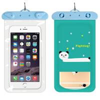 手机防水袋加厚卡通 高强密封卡通图案防水手机袋卡通手机防水袋
