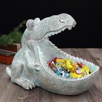 恐龙个性摆件家居装饰品糖果盘门厅鞋柜复古摆设品钥匙收纳盒