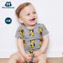 【满200减100】迷你巴拉巴拉男女宝宝三角衣2018夏新款婴幼儿两件装连体衣包屁衣