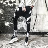 新款秋冬男士韩版宽松长裤男裤子潮流个性夜店夜场发型师低裆跨裤