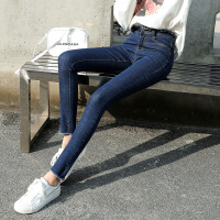 女装新款打底牛仔裤2018韩版修身显瘦小脚裤子夏季弹力铅笔裤