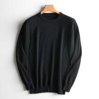 新品男士山羊绒衫圆领针织羊毛衫套头大码宽松毛衣纯色加厚打底衫